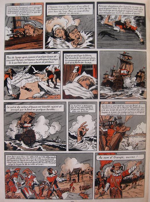 """Thyl Ulenspiegel """"la révolte des Gueux"""" page 66 de l'édition originale Lombard 1954"""
