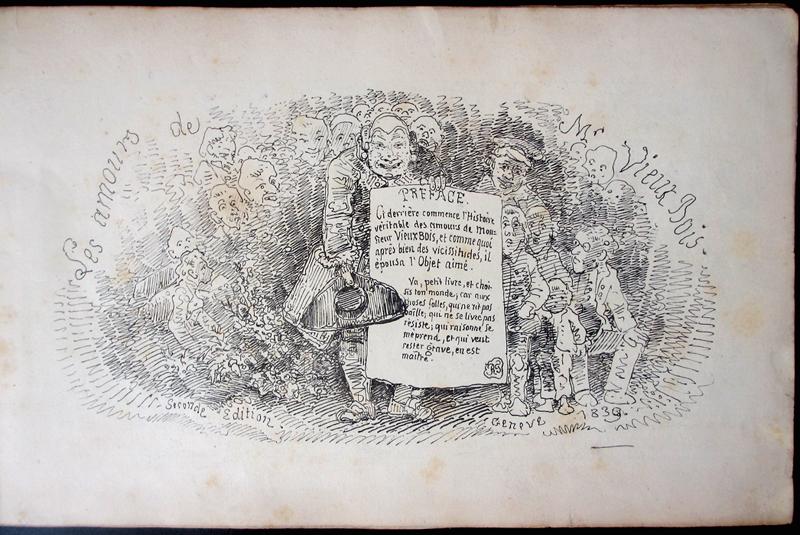 """page de titre des """"amours de mr Vieux Bois"""""""