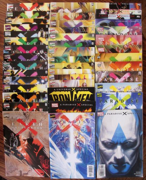Earth X # 0 - Lot Earth X V.O #1 à 12 + diverses suites 43 numéros!