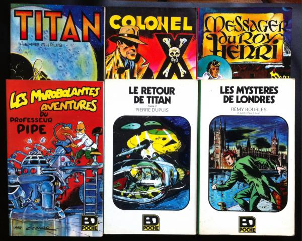 BD poche collection complète 6 albums colonel x cézard