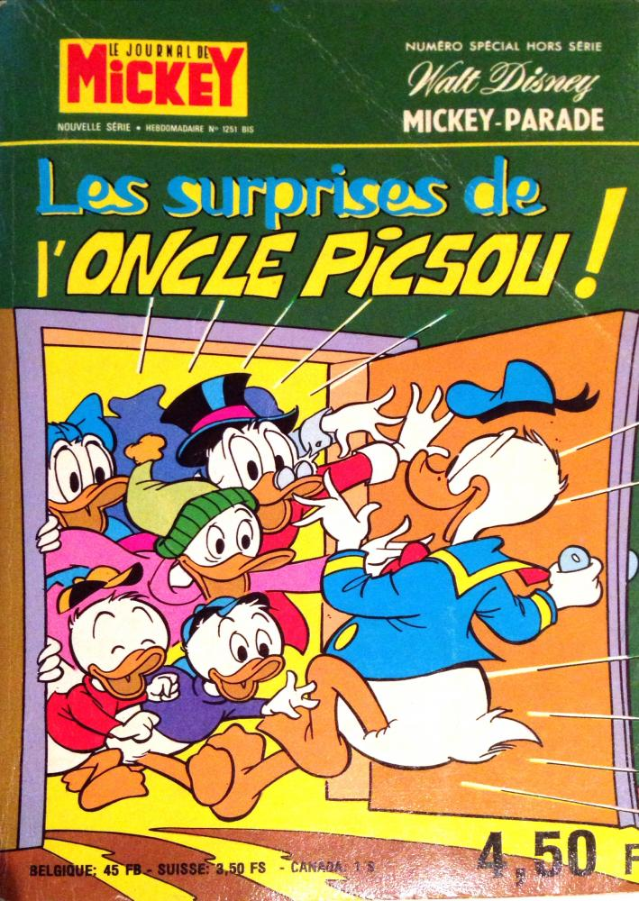 Mickey parade (premiére serie - journal de mickey bis) # 1251 - Les surprises de l'Oncle Picsou !